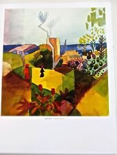 "AUGUST MACKE print ""LANDSCAPE BY THE SEA"" 1914 GERMAN EXPRESSIONIST PAINTER"