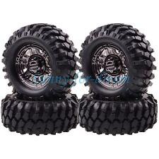4P Grey RC 1:10 Rock Crawler 1.9 Beadlock Wheels & 96MM Tires Gmade D90 SCX10