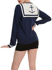 Hot Topic Anchor Sailor Girl Retro Pinup Cardigan XXXL 3X