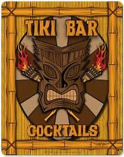 Tiki Bar Cocktails Metal Sign Man Cave Garage Den Wall Decor Dan Statler VK003