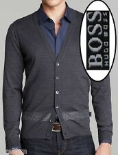 NWT Hugo Boss Black Label Wool Slim Fit Sweater Lightweight Cardigan Size L