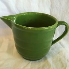 BAUER Gloss Pastel Beater Bowl / Pitcher Olive Green (late period) FLAW