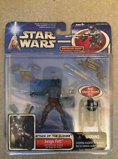 Star Wars Attack of the Clones Jango Fett Deluxe Action Figure Hasbro