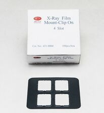 DENTAL UNIVERSAL X-RAY FILM MOUNT FRAMES SIZE #2 - CLIP ON 4 SLOT 100 PC/BOX