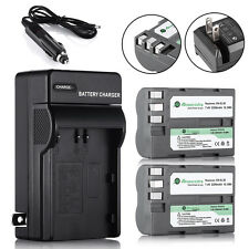 2 × 2200mAh EN-EL3E Battery + Charger for Nikon D50 D70 D80 D200 D300S D700 D9