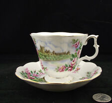 ROYAL ALBERT ENGLANDS GLORY SERIES CABINET TEA CUP AND SAUCER BONE CHINA ENGLAND