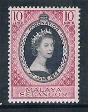 Selangor 1953 Coronation SG 115 MNH