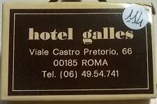 SAPONETTA HOTEL GALLES - ROMA -  RETTANGOLARE CONFEZIONATA IN SCATOLA - N. 114