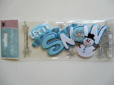 JOLEE'S BOUTIQUE TITLE STICKERS - LET IT SNOW new style