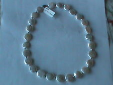 Sterling Silver Charming Necklace w Fine Coin Pearls & Sterling Bead Spacers(380