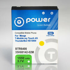 for HTC Merge T-Mobile myTouch 4G ThunderBol HD-6400 Extended Battery 1550mAh