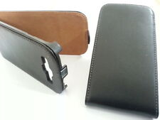 Samsung Galaxy S3 GENUINE LEATHER flip case S 3 BLACK cover skin wallet