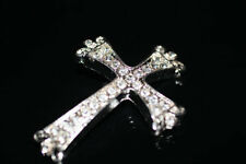 1pc Silver Rhinestone Cross Connector Charm