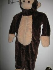 worn once 18 months MONKEY fur COSTUME 18M ONE PIECE brown outfit toddler CHILD