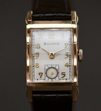 "1948 BULOVA USA ""His Excellency UU "" 7AK 21J SLIM DRESS MEN WATCH 10K GF"
