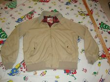 vtg 80s BARACUTA Plaid Lined Cotton Poly Tan Harrington Jacket sz 44 L large