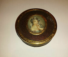 Georgian Louis XVI 1777 - 1787 Snuff Box with miniature portrait on lid