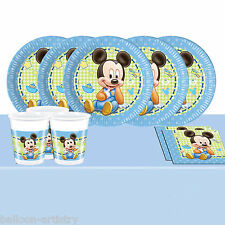 Classic Disney's Baby Mickey Mouse Childrens Birthday Complete Party Pack For 16