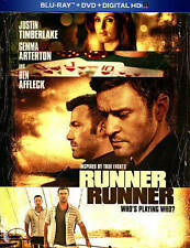RUNNER RUNNER/Ben Affleck/NEW BLU-RAY+DVD+DIGITAL HD
