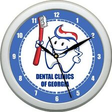 "Personalized Dentist Office 10.75"" Wall Clock Hygienist Tooth Brush Braces"