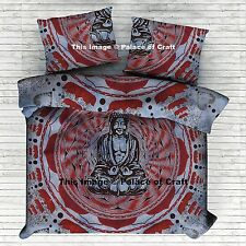 Indian Lord Buddha Meditating On Lotus Duvet Quilt Comforter Cover Bedding Set