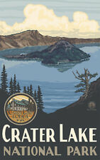 Retro Poster-Crater Lake NP-Crater Lake, Crater Lake Lodge 1915 (PAL-1144)