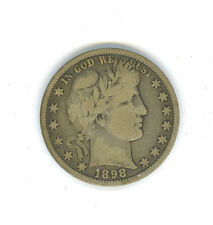 Nice and Original 1898-P Barber Half Dollar With VG/F Details