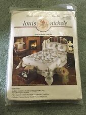 Bucilla Louis Nichole Dubonnet Queen King Cross Stitch Quilt Bedspread Kit NIP