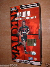 VHS=MALDINI LA BANDIERA ROSSONERA=2000=le stelle del campionato=Gazzetta Sport