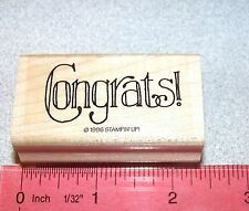 Stampin Up Favorite Greetings Stamp Single Congrats Anniversary Birthday Wishes