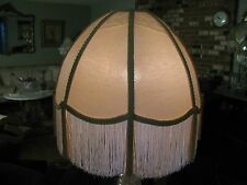 "Victorian French  Large Floor Table Lamp Shade ""Butter Cream""  Tassels  Fringe"