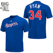 Nolan Ryan #34 Texas Rangers Jersey T-Shirt 4XL Cooperstown MLB Majestic Blue