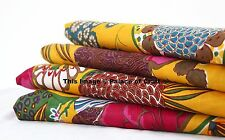 "Printed Indian Pure Cotton 44"" Wide Craft Fabric Material Sewing By The Metre"