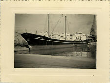PHOTO ANCIENNE - VINTAGE SNAPSHOT - BATEAU ALESSANDRO TOMEI ALGER - BOAT 1957