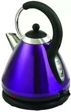 BELLA PYRAMID CORDLESS KETTLE METALLIC PURPLE PASSION 1.8 LITRE STAINLESS STEEL