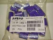 4 PIECES OF SANYO OS-CON 1000uf 16V SOLID CAPACITOR