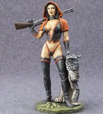 Painted Woman Red Cap Sexy Girl Red Riding Hood Figure 1/24 Female 75mm