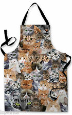 CATS ALL OVER DESIGN APRON KITCHEN BBQ COOKING PAINTING GREAT GIFT IDEA