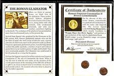 Gladiator: Roman Coin of Emperor Constantius II Album,Story & Certificate