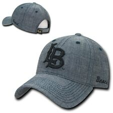 NCAA CSULB Long Beach Cal State University Structured Denim Caps Hats Blue