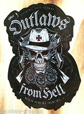 "Oldschool ratrod Sticker ""Outlaws from Hell"" tira pugni ADESIVO US Auto Bike"