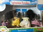 Sylvanian Families~ Skunk Family Father Mother Son Sister x 4 play set Limited