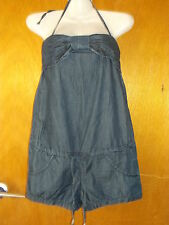 Killah Tie-Halter Denim Short Play-Suit XS UK 8 Denim Blue BNWoT