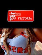 Victoria Hooters Girl Uniform Nametag Halloween Costume Waitress Pin Badge