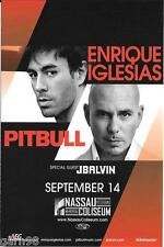 ENRIQUE IGLESIAS and PITBULL Concert Handbill Mini Poster Nassau 2014