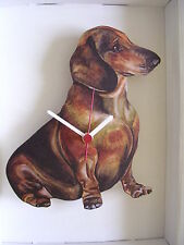 Dachshund Dog Wall Clock. New & Boxed.