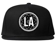 Kings Of NY LA Bandana Pattern Gang Logo Printed Snapback hat Cap  Red Blue Cali