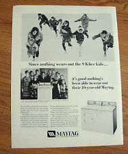 1967 Maytag Washer Ad the Klier Family of Fort Wayne Indiana