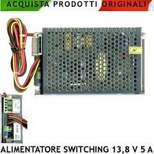 Alimentatore Caricabatterie Stabilizzato Antifurto Switching 13,8 V 5 A Allarme