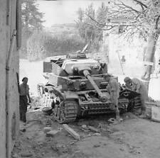 WWII B&W Photo German Panzer Pzkpfw IV  WW2 /4052